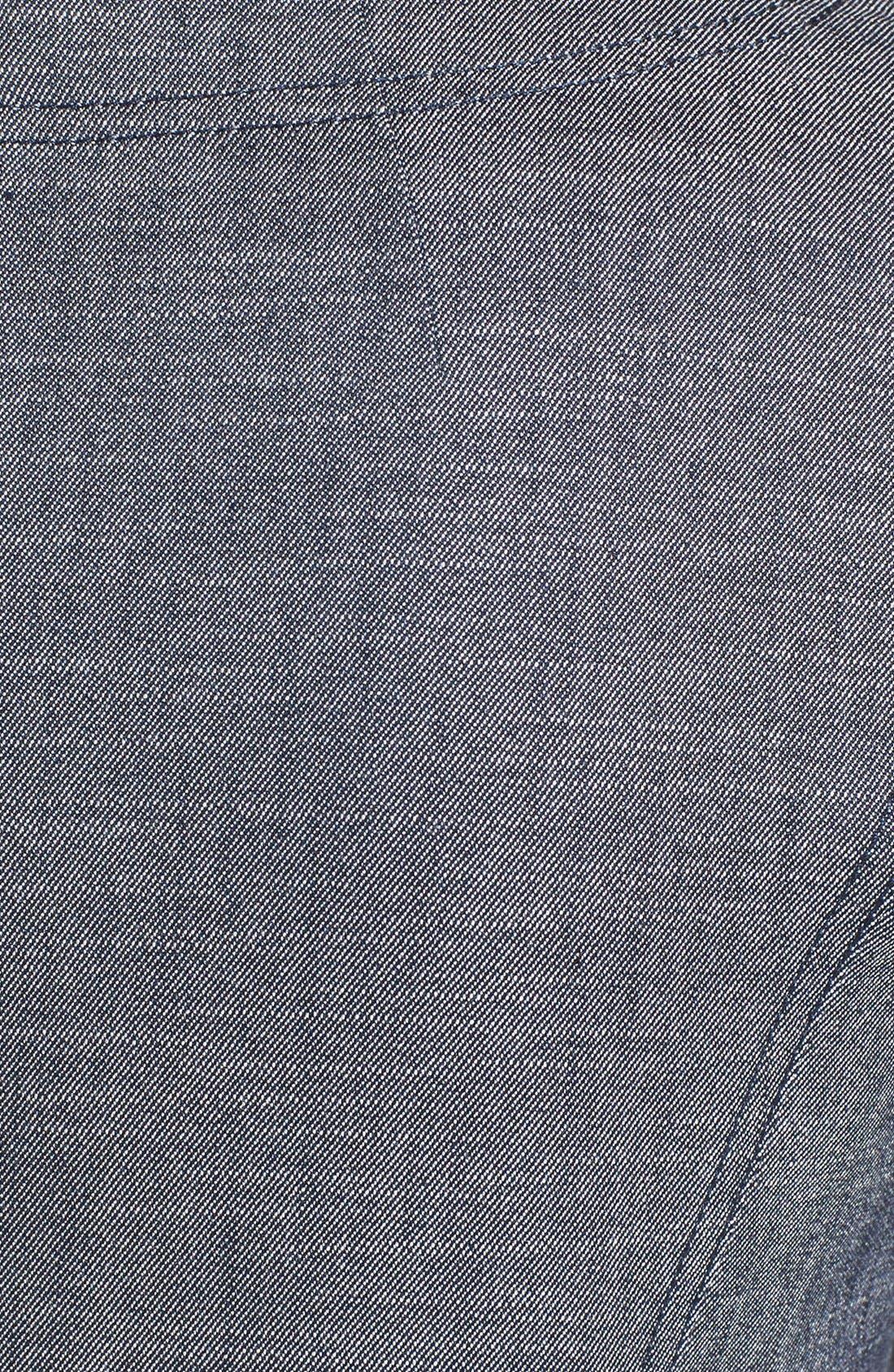 Alternate Image 3  - Halogen® 'Indigo Crosshatch' Shift Dress (Regular & Petite)