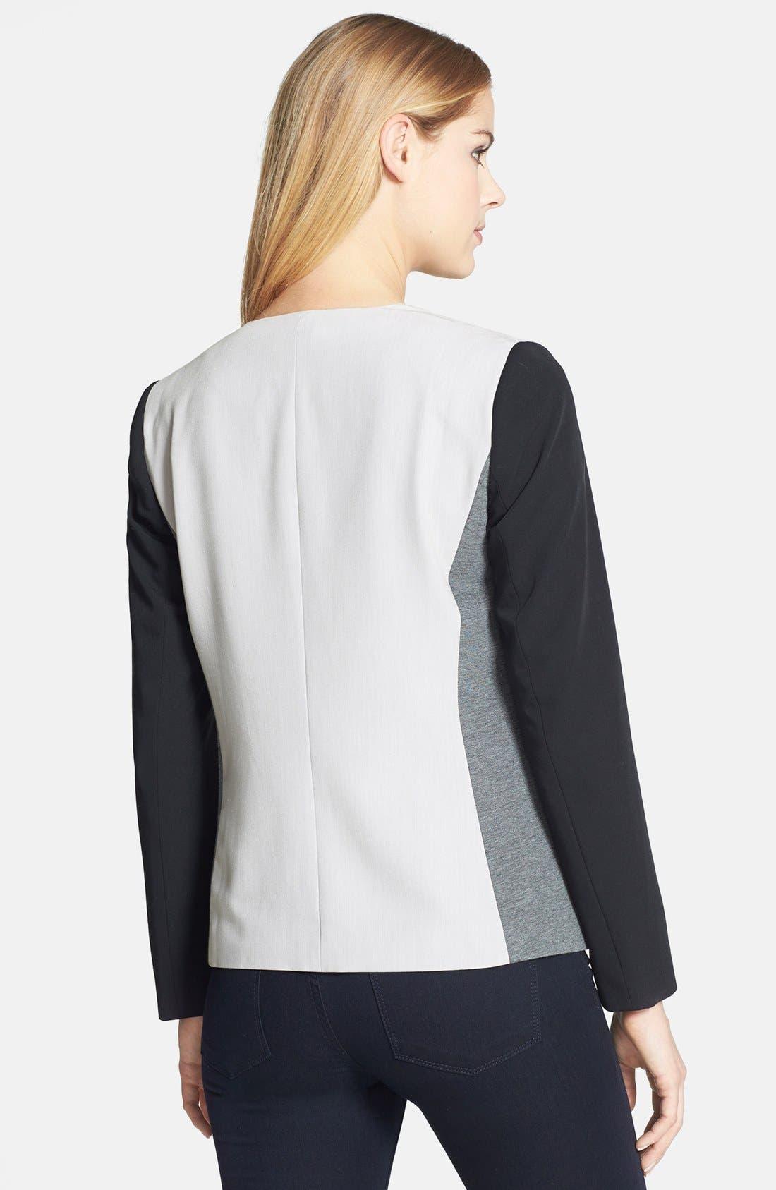 Alternate Image 2  - DKNYC Colorblock One-Button Blazer
