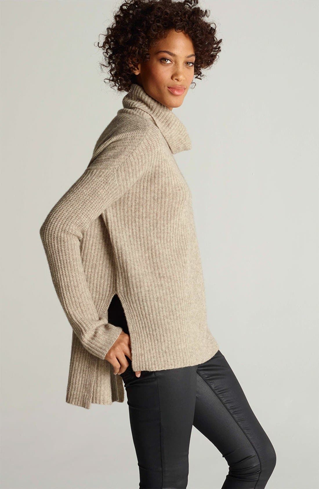 Alternate Image 3  - Eileen Fisher Sweater & Skinny Jeans