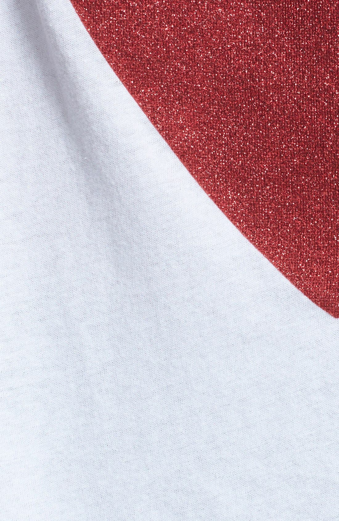 Alternate Image 3  - Wildfox 'Sparkle Heart' Crewneck Cotton Tee (Special Purchase)