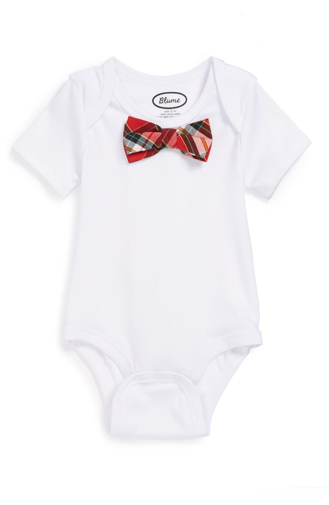 Alternate Image 1 Selected - Blume 'Bow Tie' Bodysuit (Baby Boys)