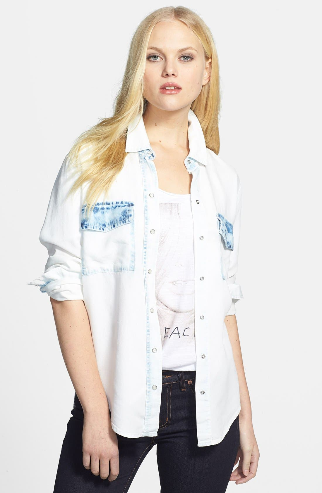 Alternate Image 1 Selected - Two by Vince Camuto Bleached Shirt