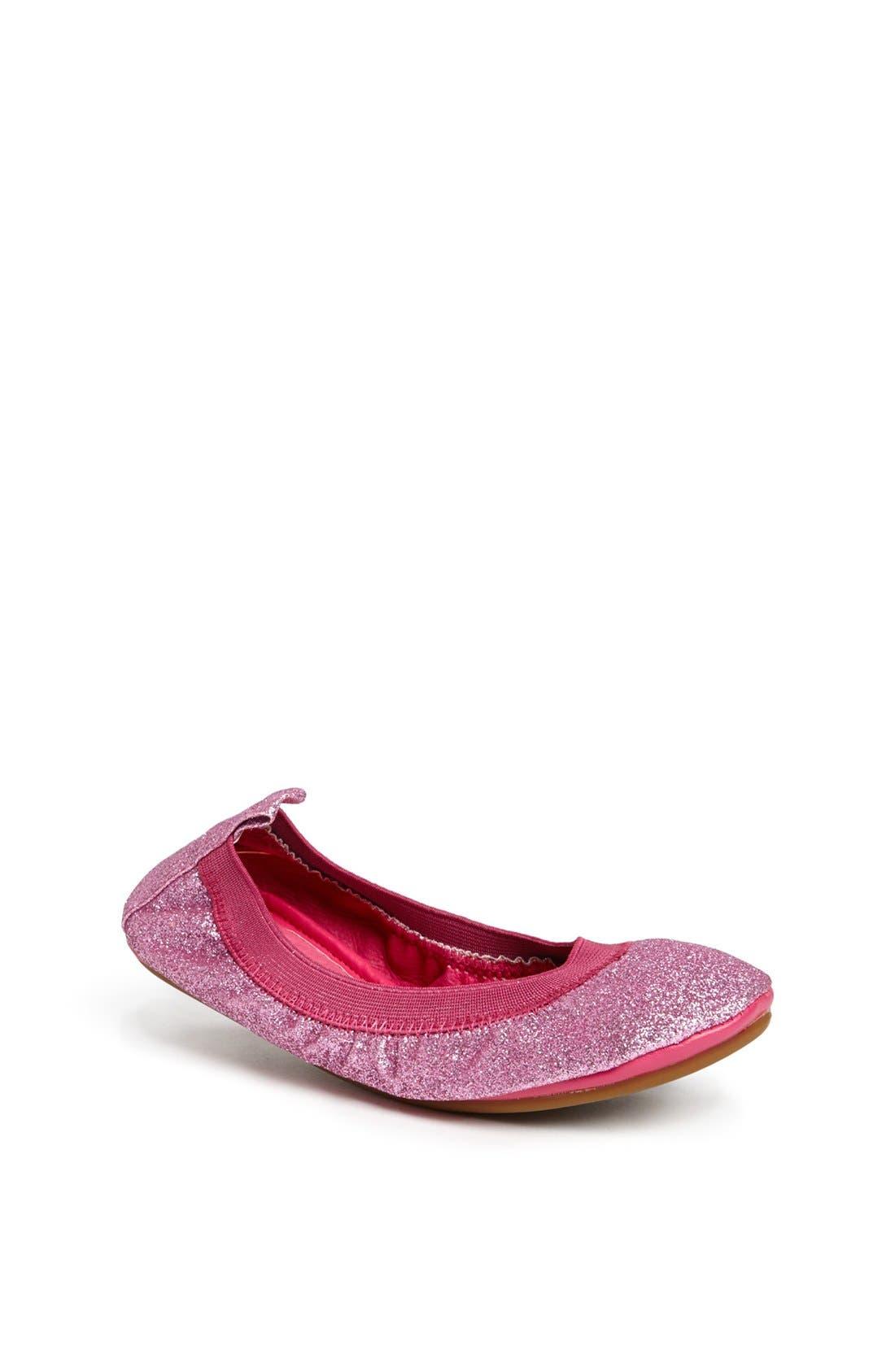 Alternate Image 1 Selected - Yosi Samra Glitter Foldable Ballet Flat (Toddler, Little Kid & Big Kid)
