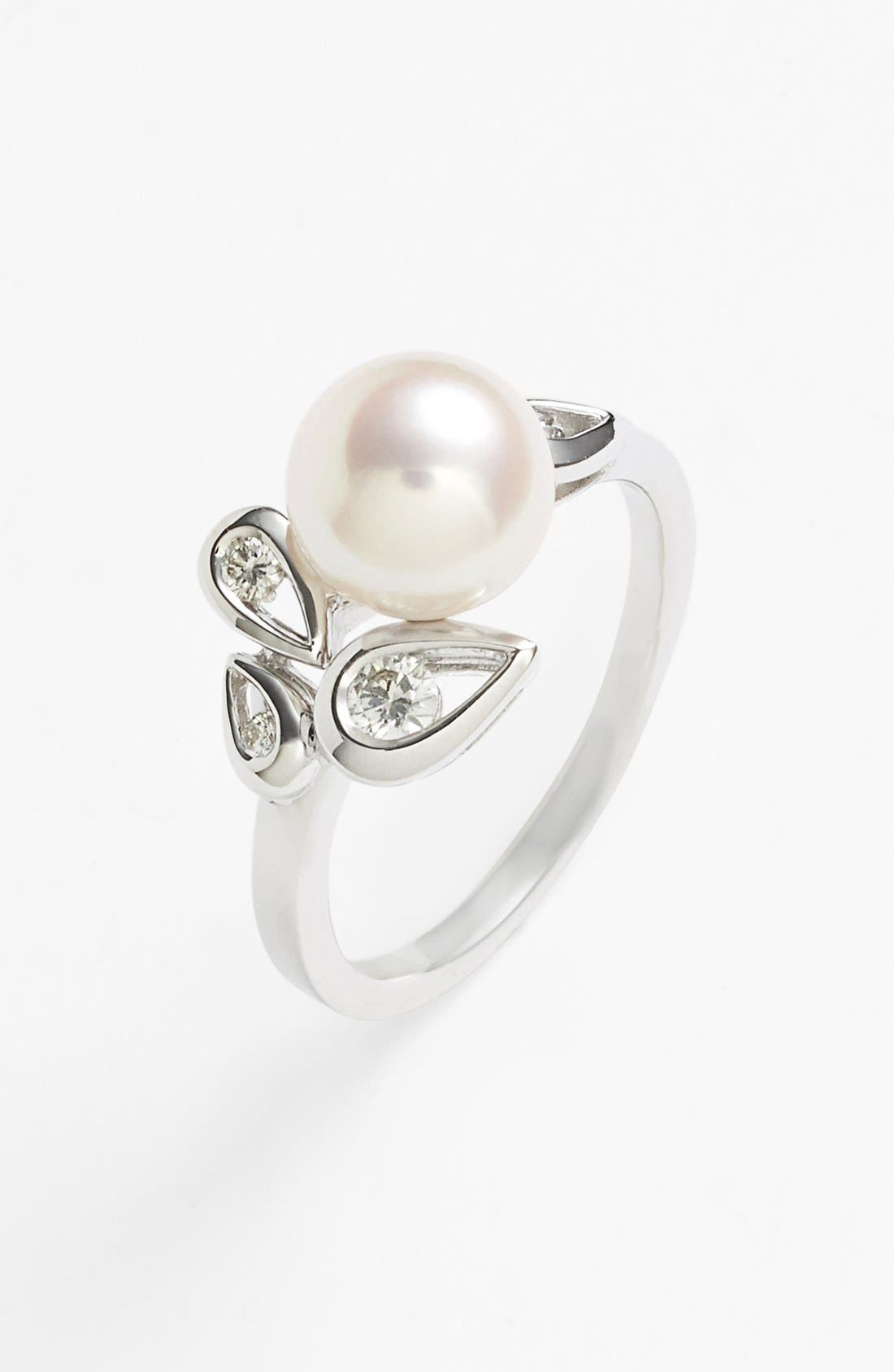 Alternate Image 1 Selected - Mikimoto Akoya Pearl & Diamond Ring