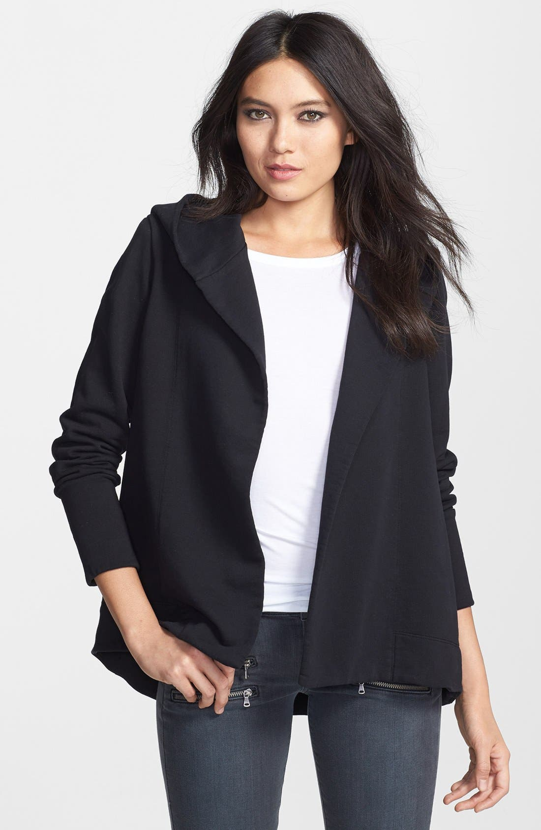 Main Image - James Perse Open Front Draped Hoodie
