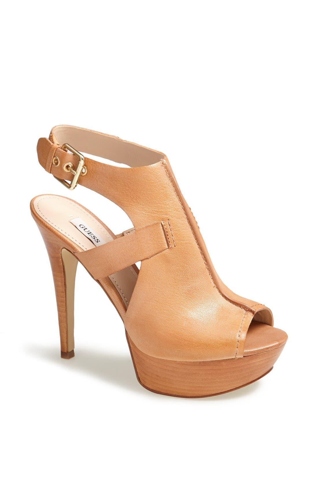 Alternate Image 1 Selected - GUESS 'Gwofira' Platform Sandal