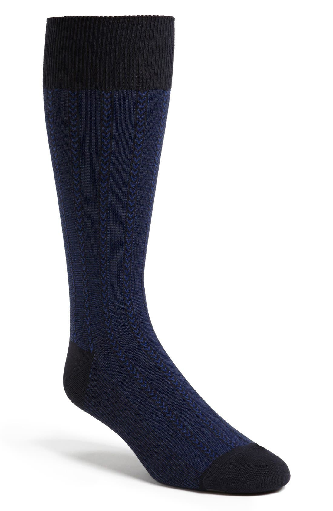 Alternate Image 1 Selected - Cole Haan 'Feed Stripe Twill' Crew Socks