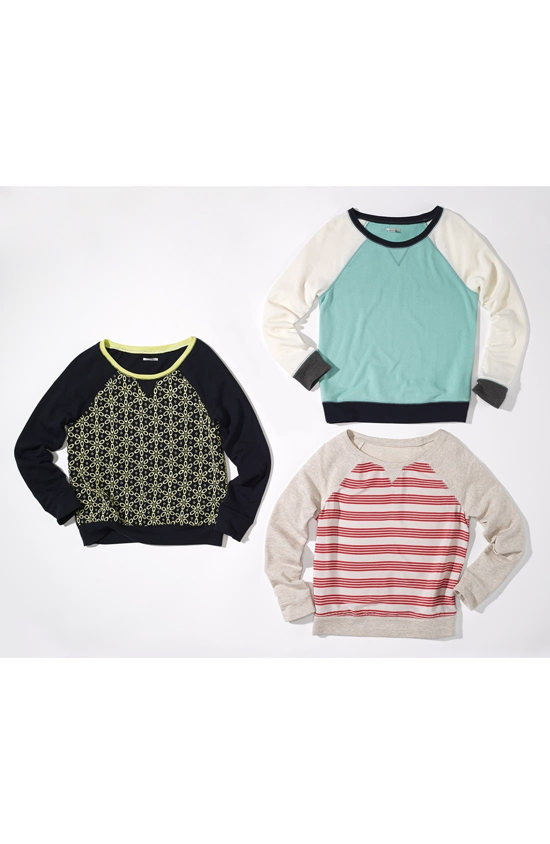Alternate Image 4  - Halogen® Stripe Front Sweatshirt