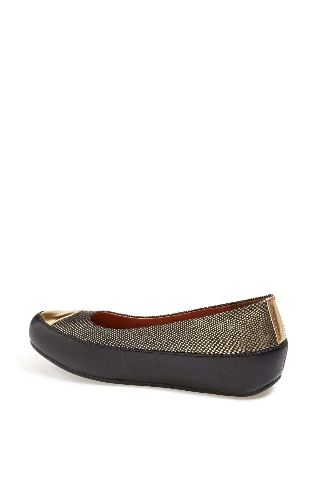 Alternate Image 2  - FitFlop 'Dué™ Oro' Leather Flat