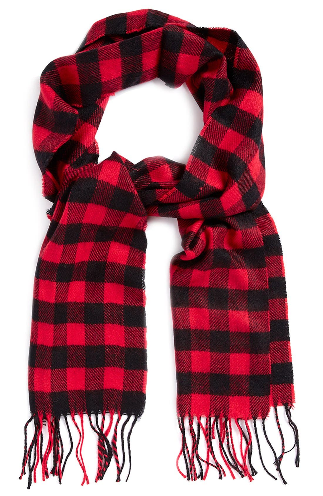 Alternate Image 1 Selected - Topman Buffalo Check Knit Scarf