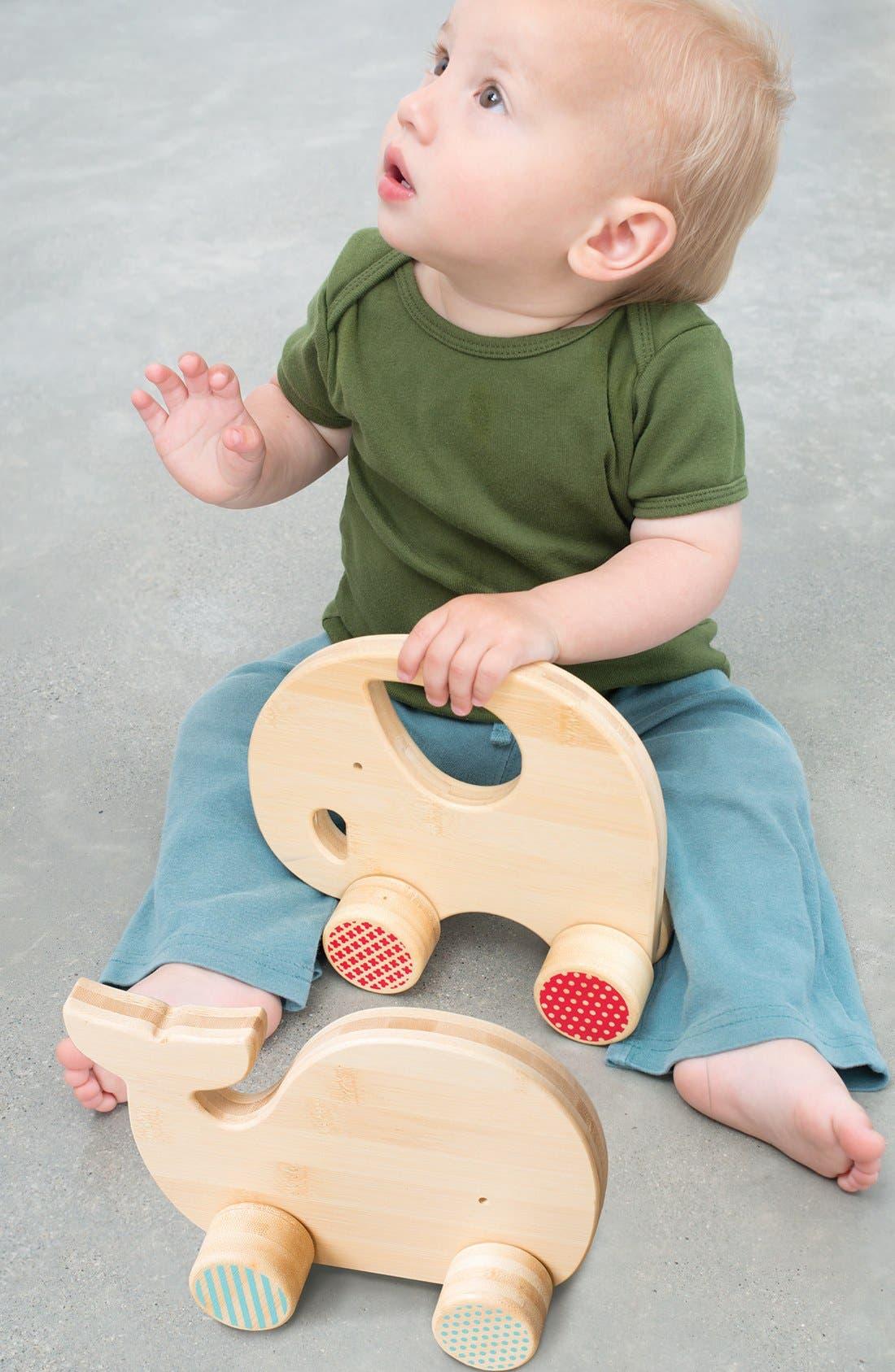 Alternate Image 2  - Petit Collage 'Whale' Bamboo Push Toy