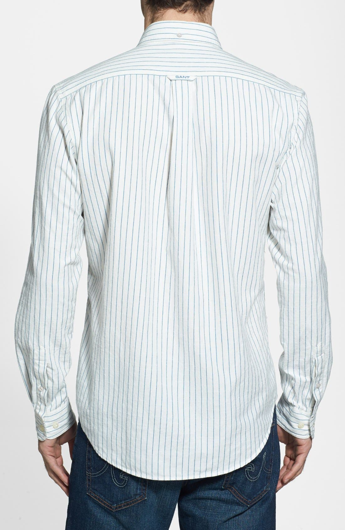 Alternate Image 2  - Gant 'O.P. Indigo Stripe' Sport Shirt