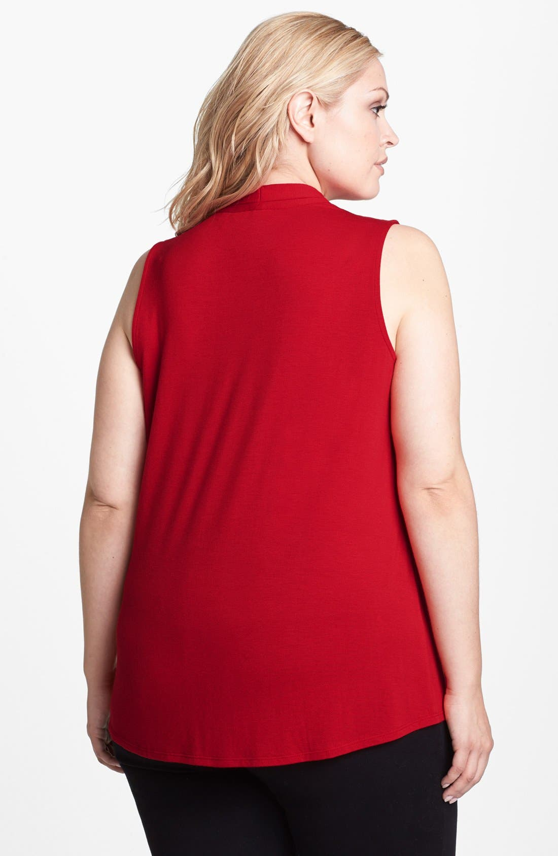 Alternate Image 3  - Sejour Stretchy Layering Tee (Plus Size)