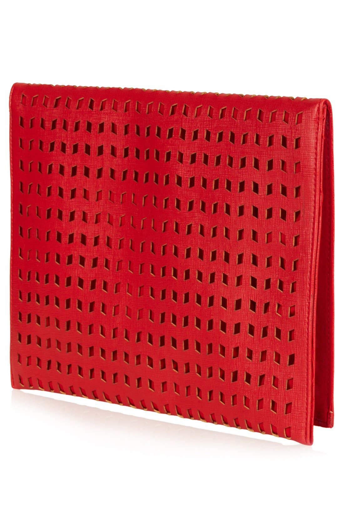 Alternate Image 4  - Topshop Perforated Foldover Clutch