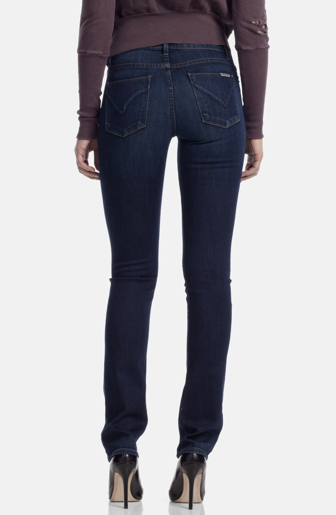 Alternate Image 2  - Hudson Jeans Mid Rise Straight Leg Jeans (Unplugged)