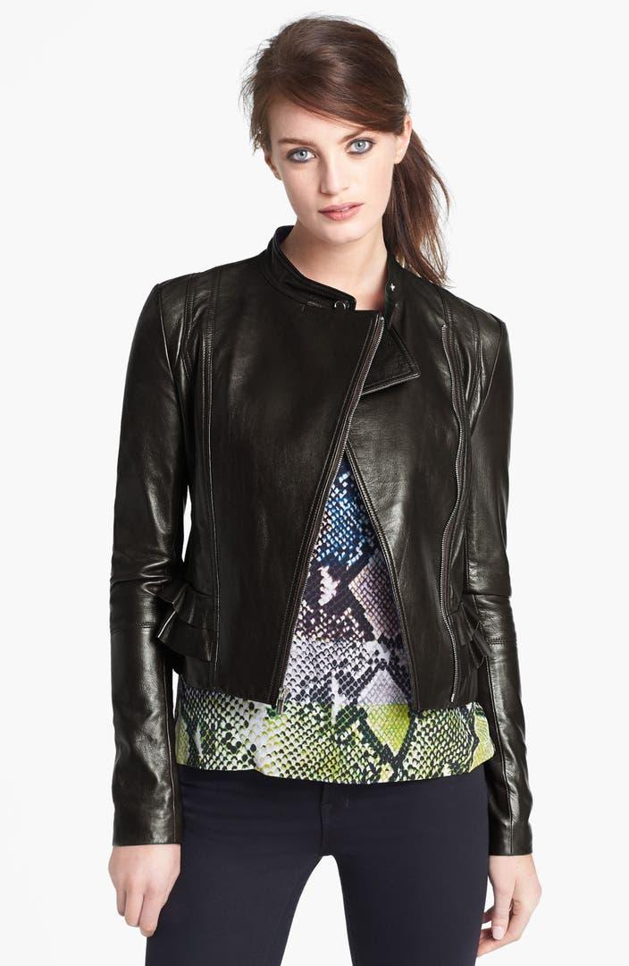 Diane von Furstenberg 'Heaven' Crop Leather Jacket   Nordstrom