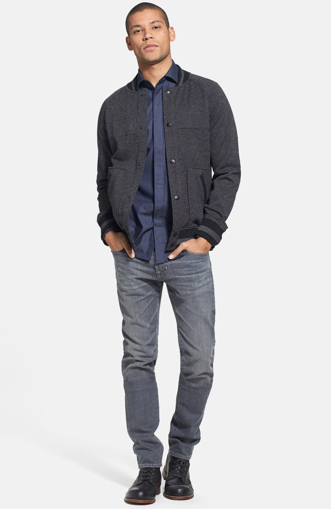 Alternate Image 5  - AG 'Dylan' Skinny Fit Jeans (9 Years Grey)
