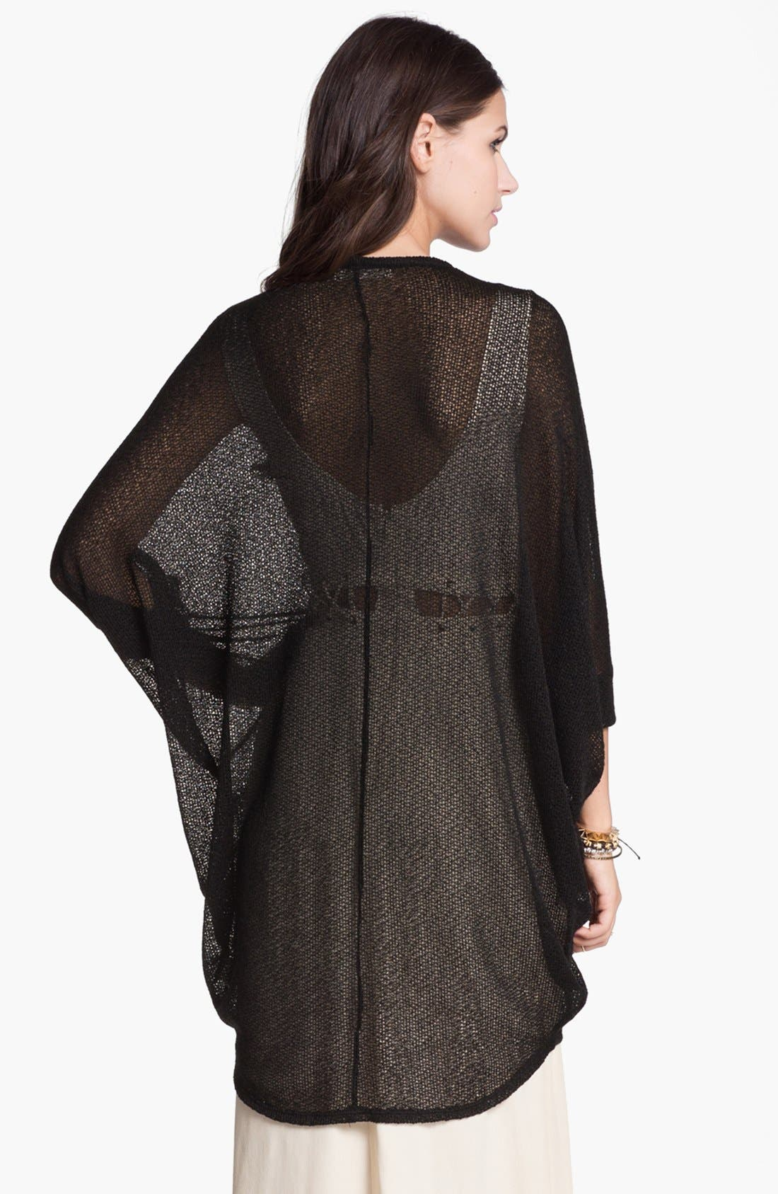 Alternate Image 2  - Painted Threads Oversized Sheer Knit Cardigan (Juniors)