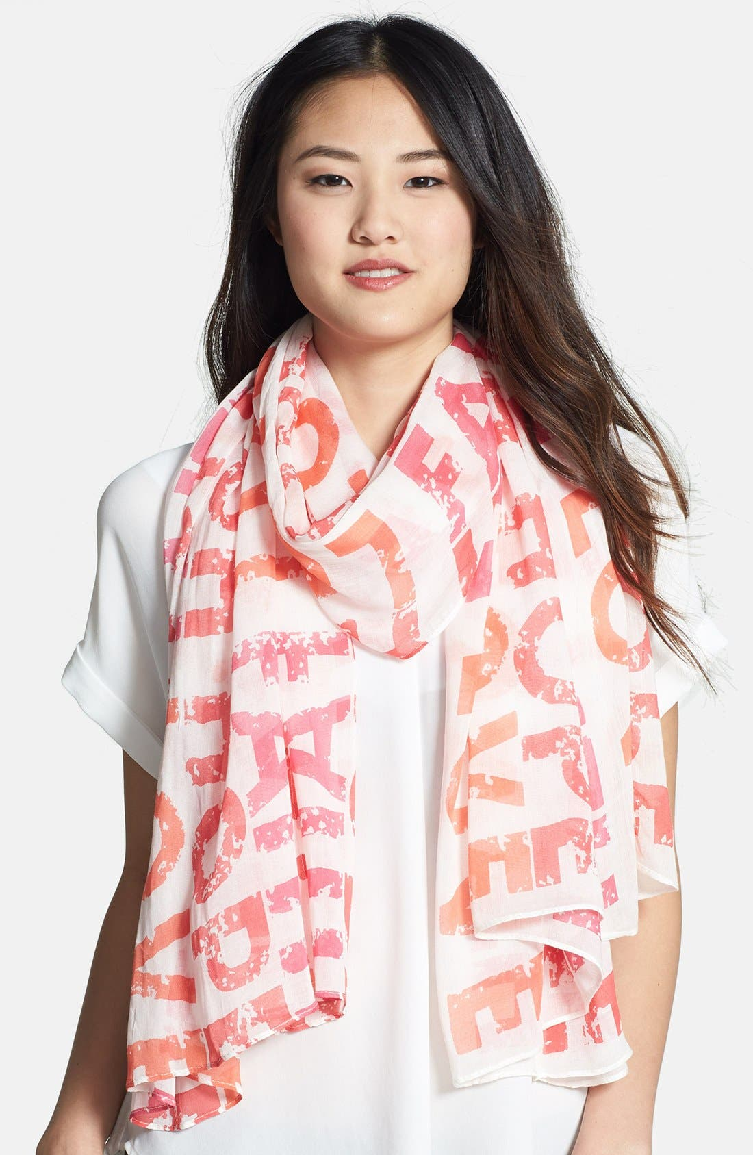 Alternate Image 1 Selected - Roffe Accessories 'Faith Hope Love' Scarf