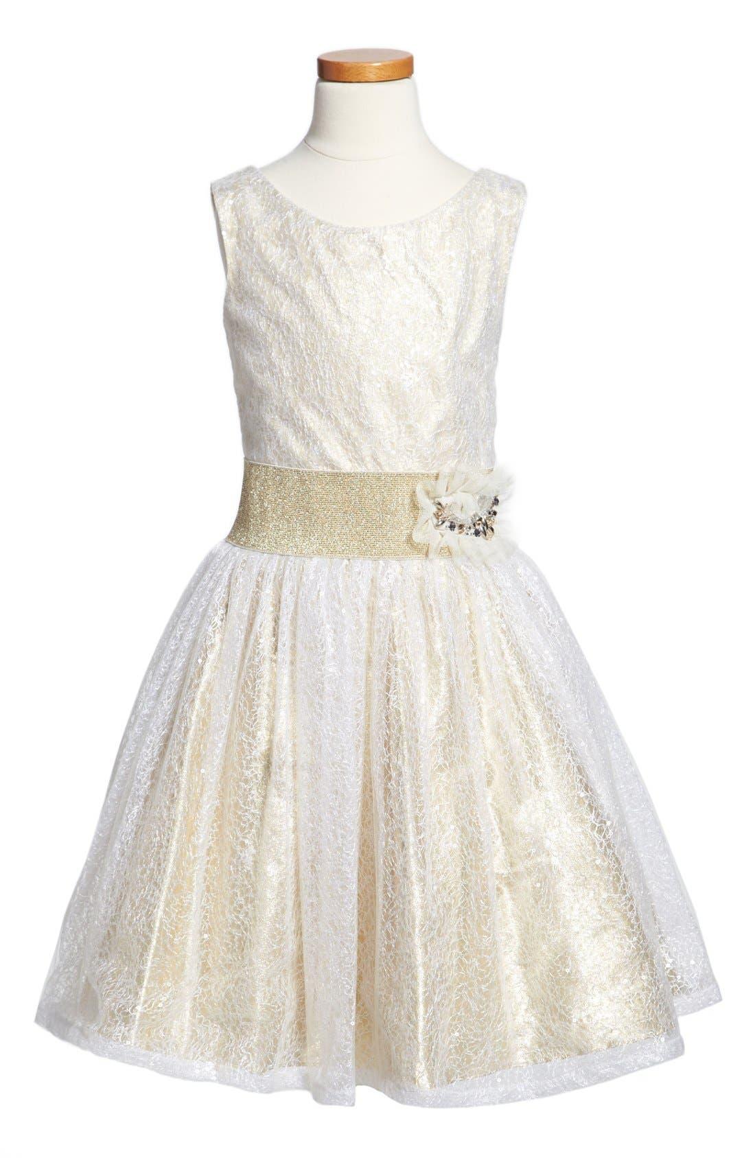 Alternate Image 1 Selected - Zoe Ltd Sleeveless Dress (Big Girls)