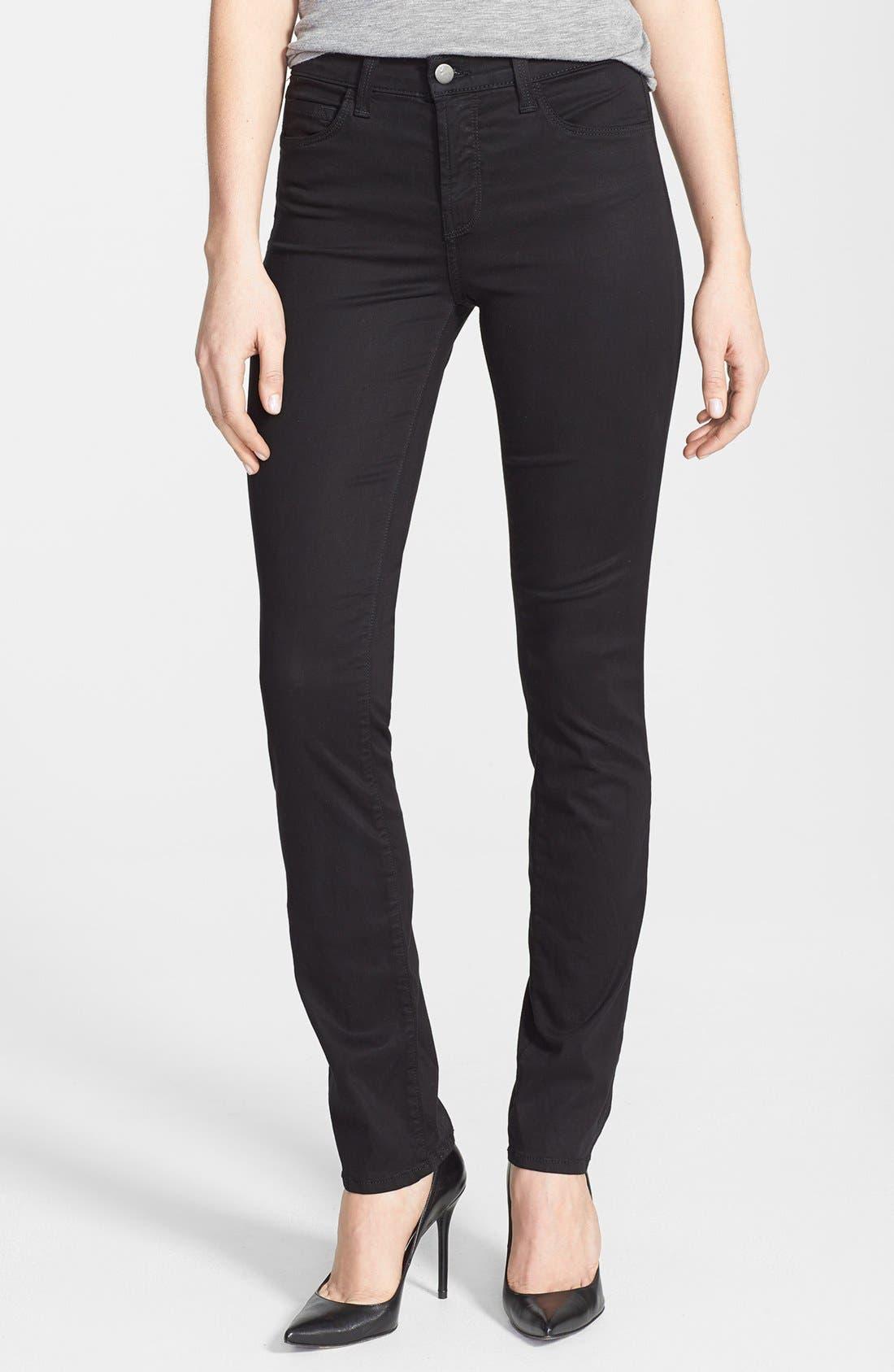 Alternate Image 1 Selected - J Brand 'Rails' Straight Leg Jeans (Black Luxe Sateen)