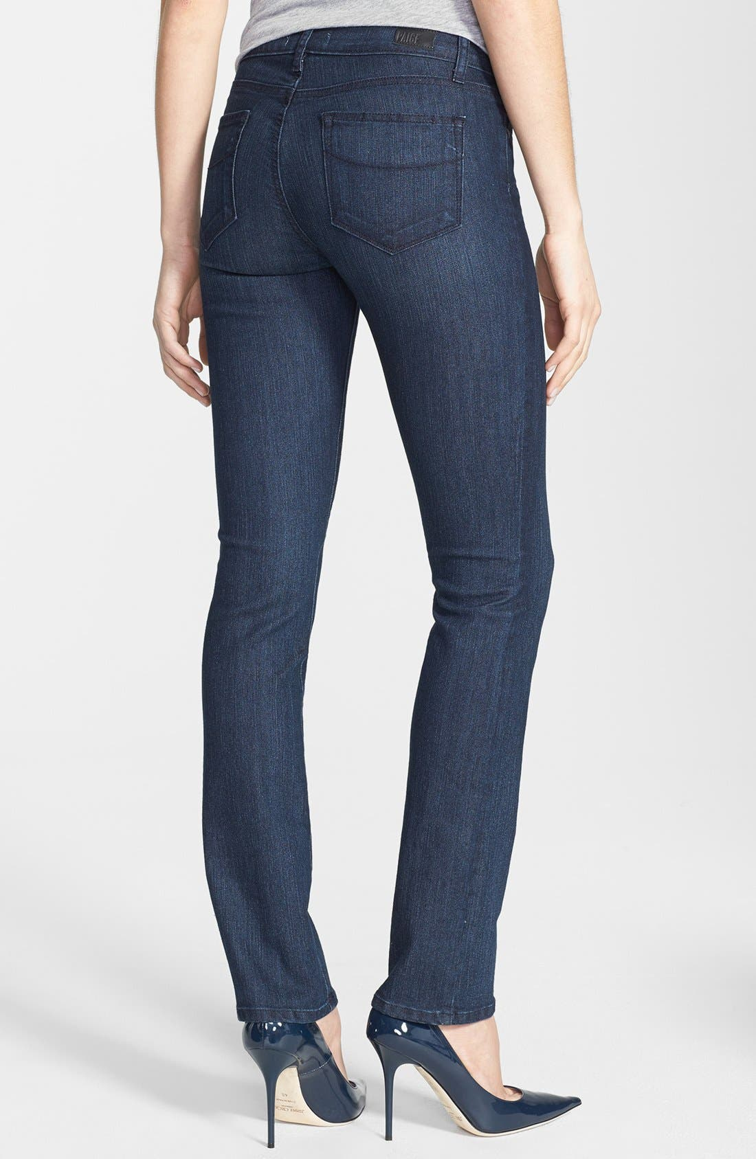 Alternate Image 2  - Paige Denim 'Skyline' Straight Leg Jeans (Manchester) (Petite)