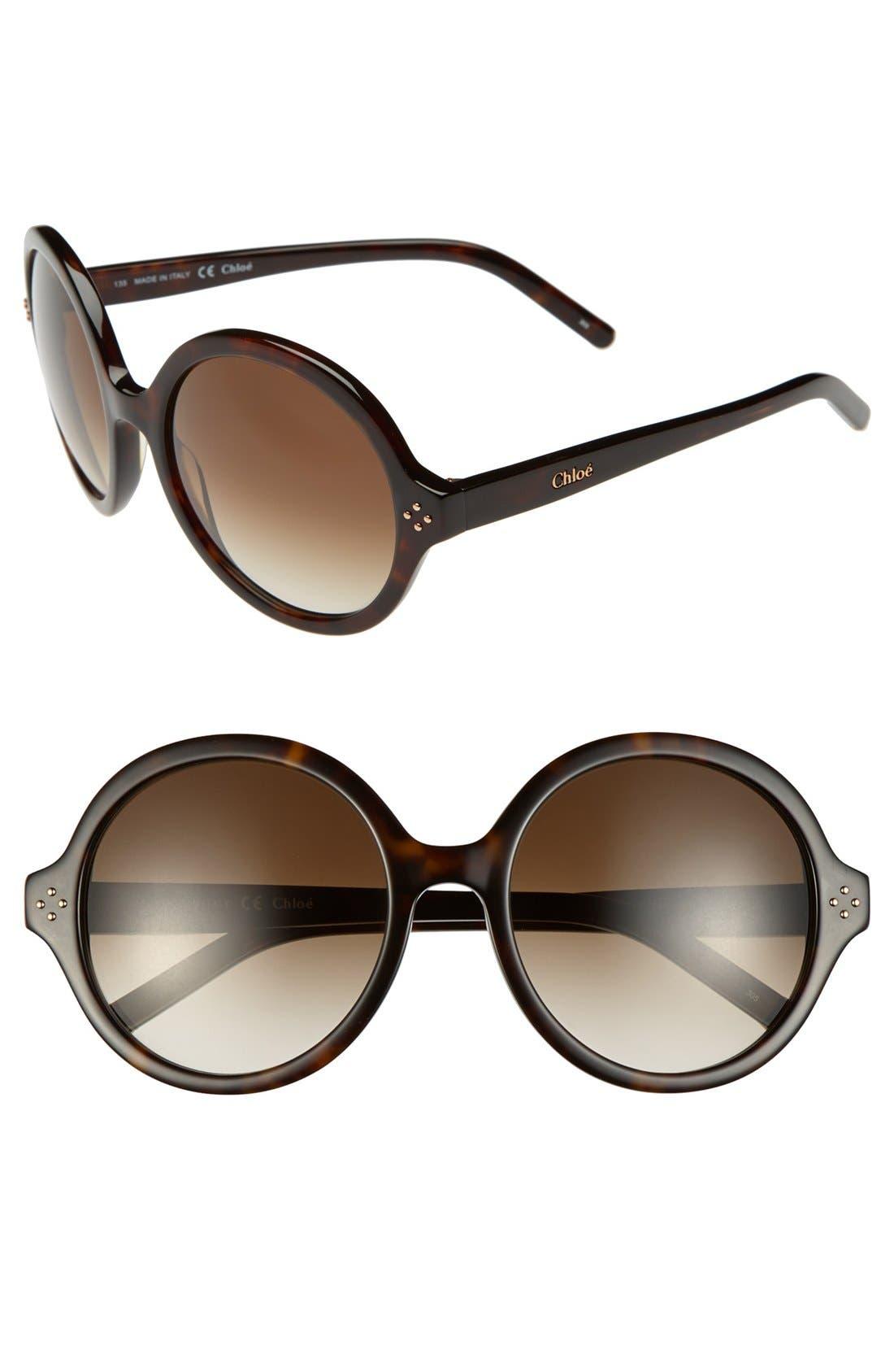 Alternate Image 1 Selected - Chloé 'Boxwood' 55mm Sunglasses