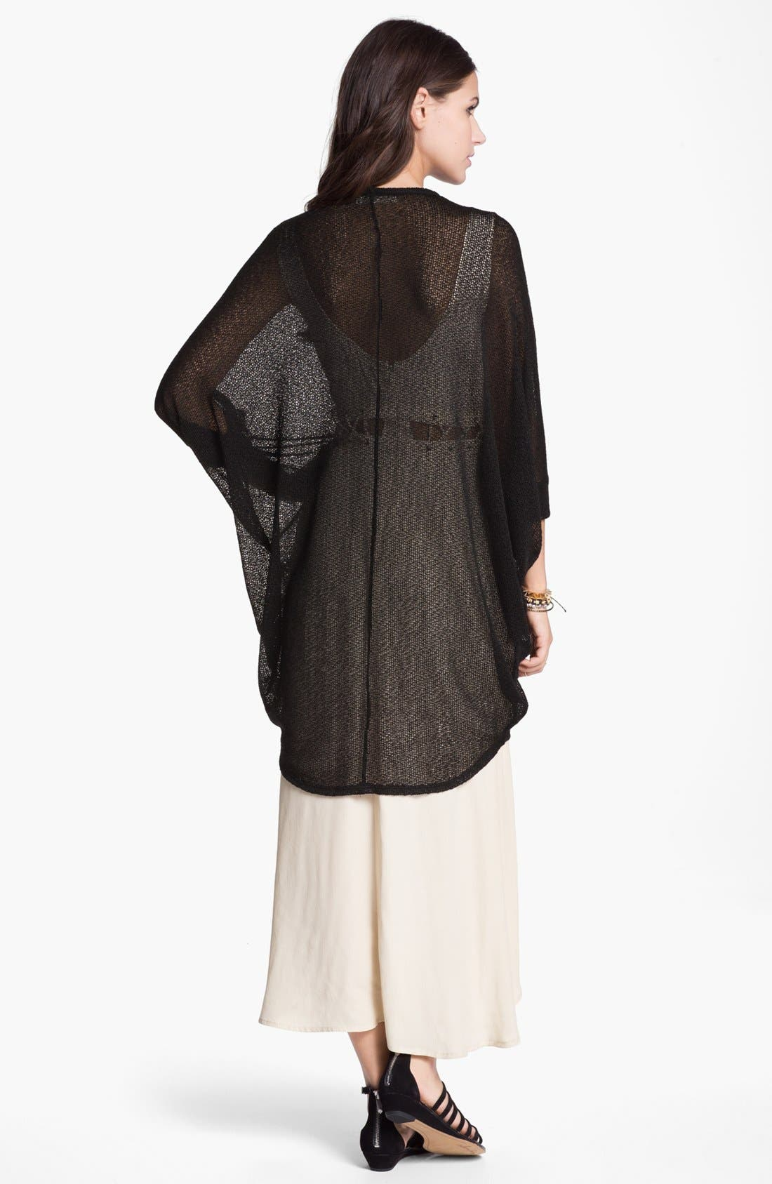 Alternate Image 4  - Painted Threads Oversized Sheer Knit Cardigan (Juniors)