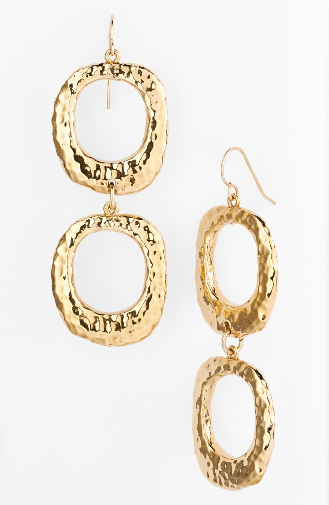 Main Image - Simon Sebbag Hammered Double Square Drop Earrings