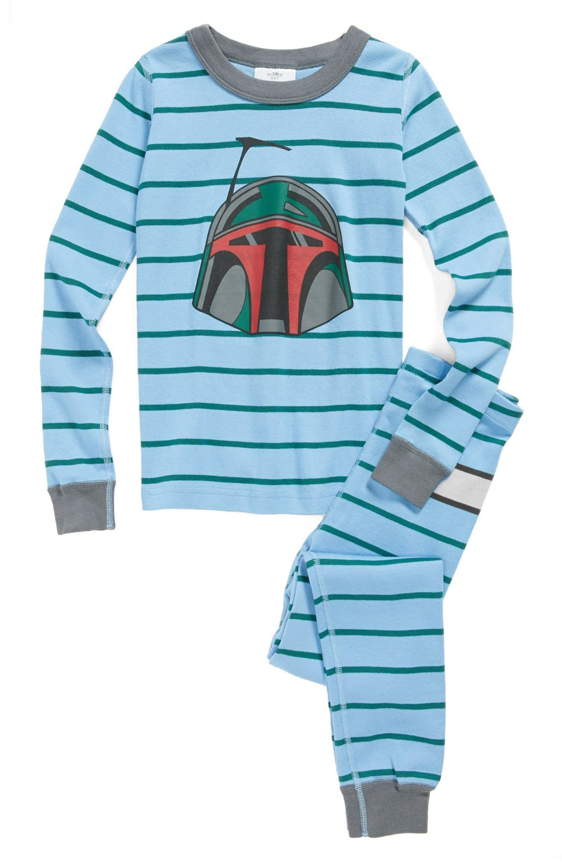 Main Image - Hanna Andersson 'Star Wars™ Boba Fett™' Two-Piece Organic Cotton Fitted Pajamas (Toddler Boys)