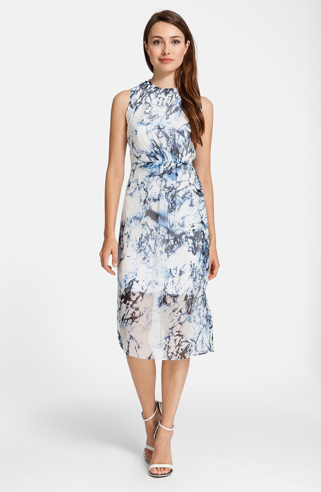 Alternate Image 1 Selected - Cynthia Steffe 'Riva' Print Silk Dress