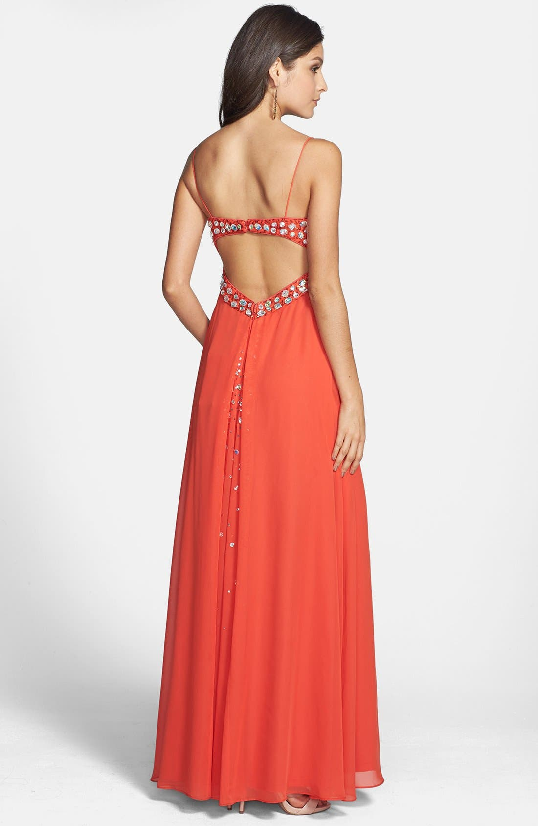Alternate Image 2  - Hailey Logan Embellished Empire Waist Gown (Juniors) (Online Only)
