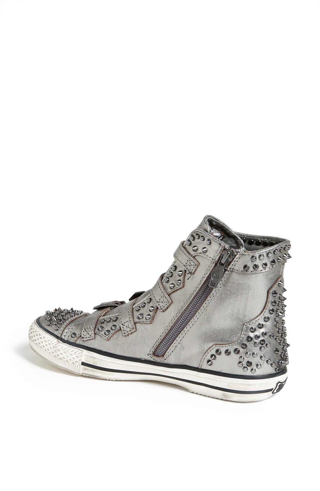 Alternate Image 2  - Ash 'Viking' Spiked Metallic Leather Sneaker