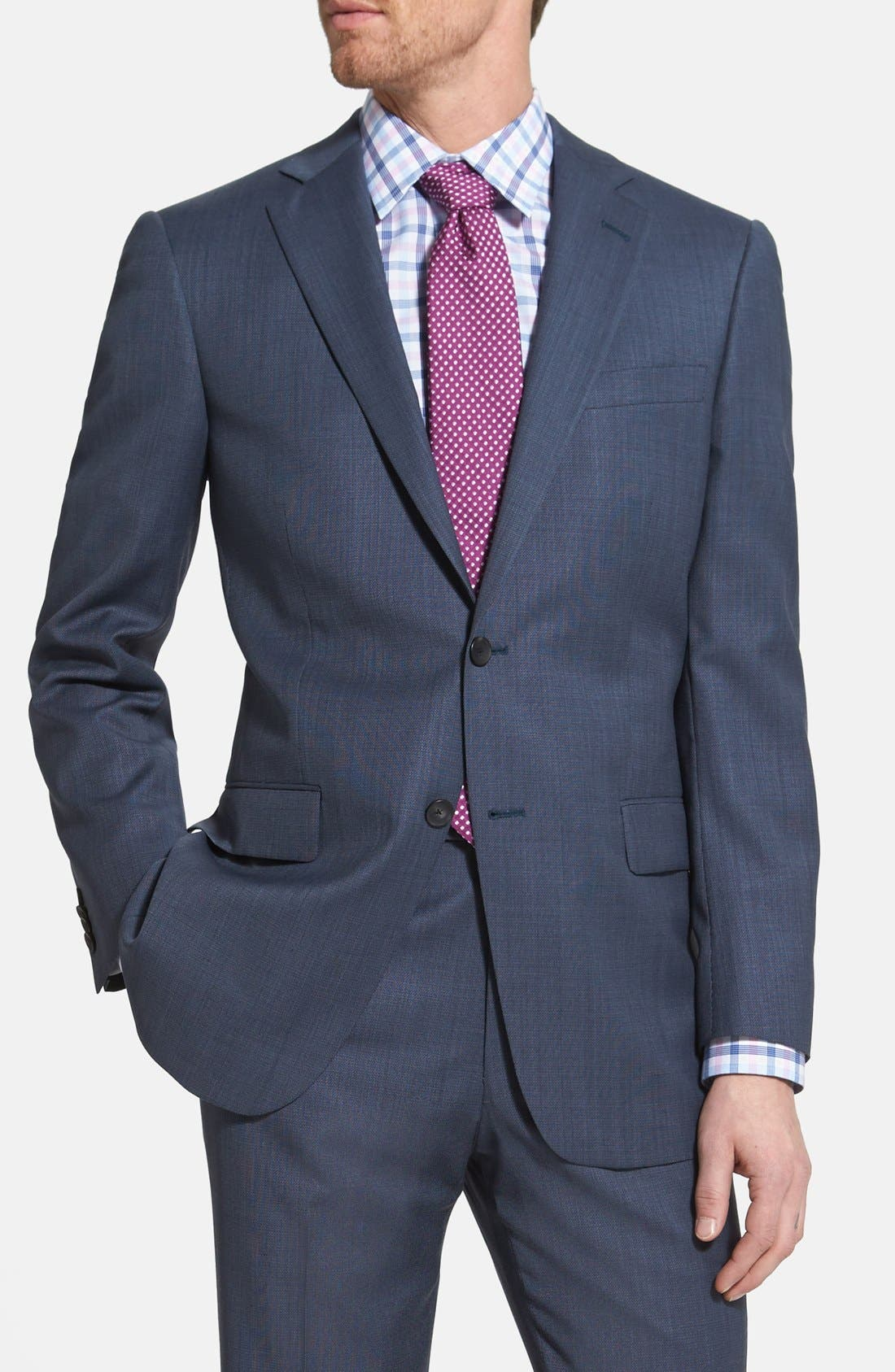 Alternate Image 3  - NY 2BTN SV FF CLASSIC FIT SUIT