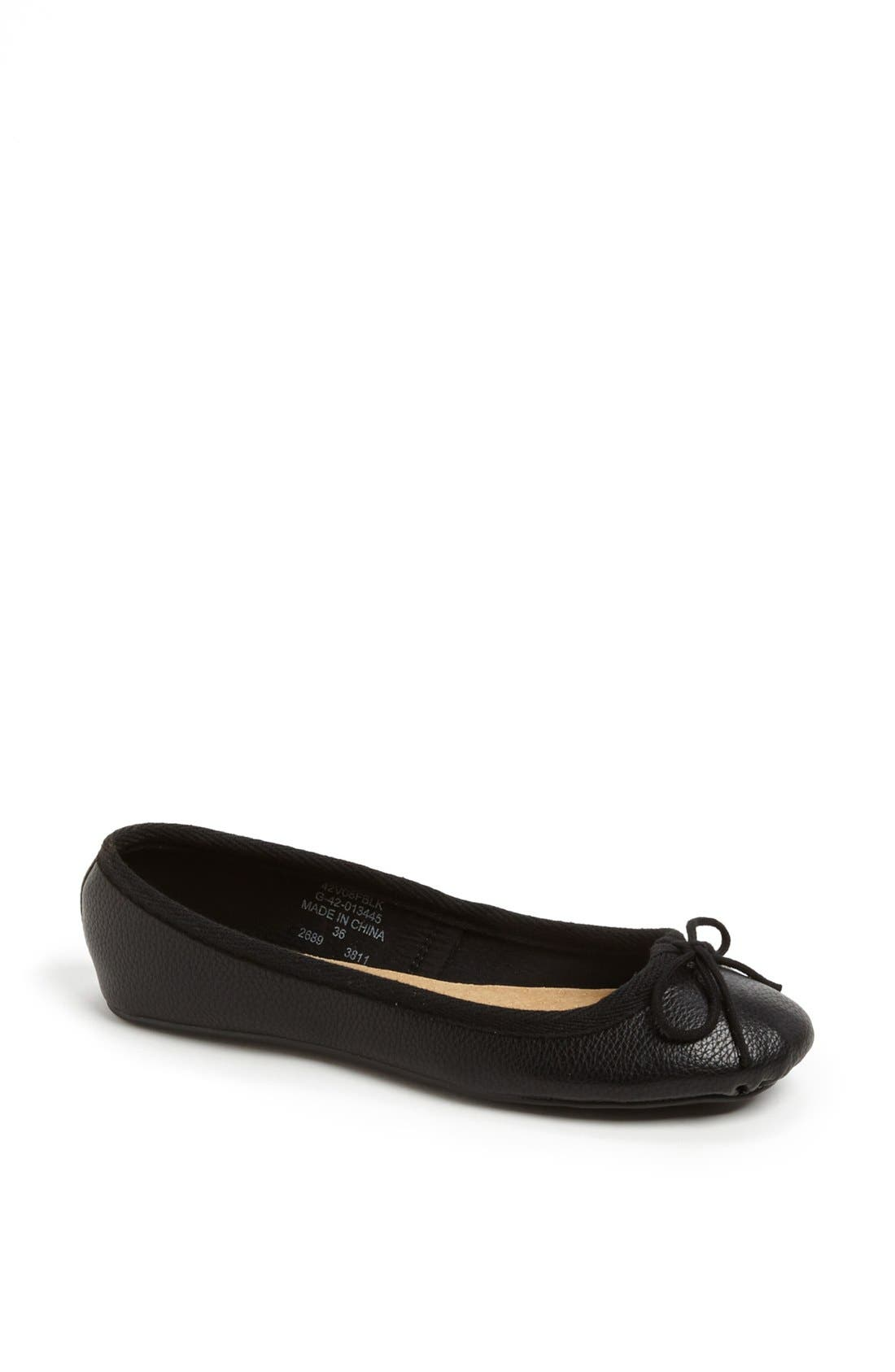 Alternate Image 1 Selected - Topshop 'Vibrant Tumbled' Ballerina Flat