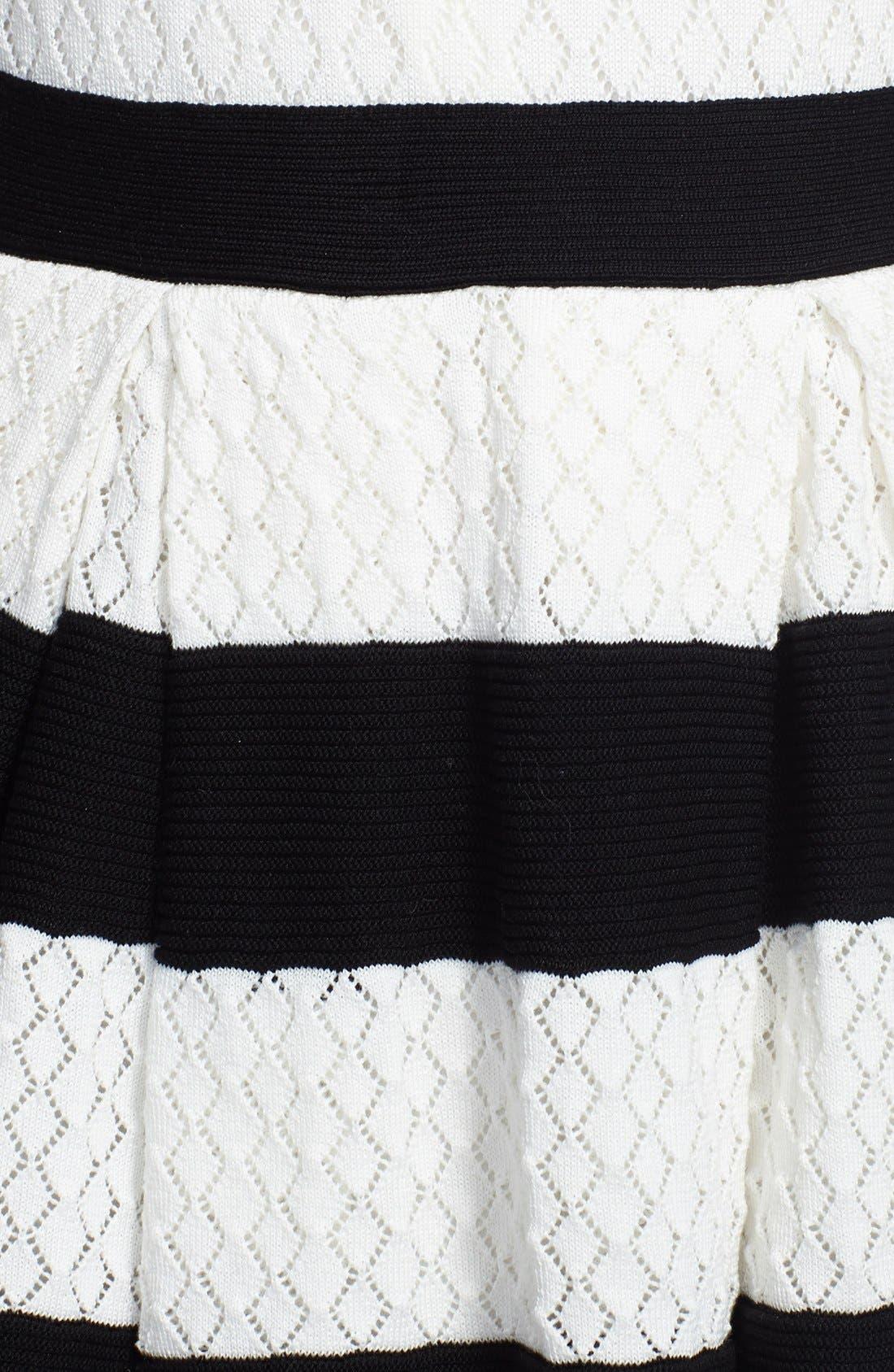 Alternate Image 3  - RED Valentino Stripe Skirt Knit Dress