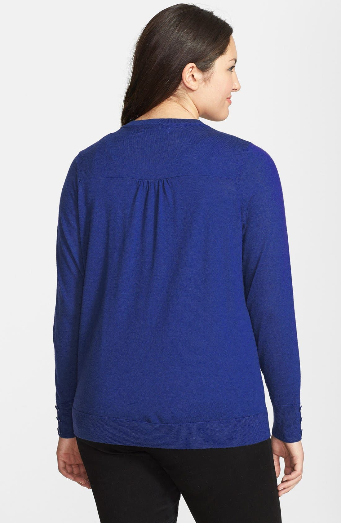 Alternate Image 2  - Sejour Merino Wool Cardigan (Plus Size)