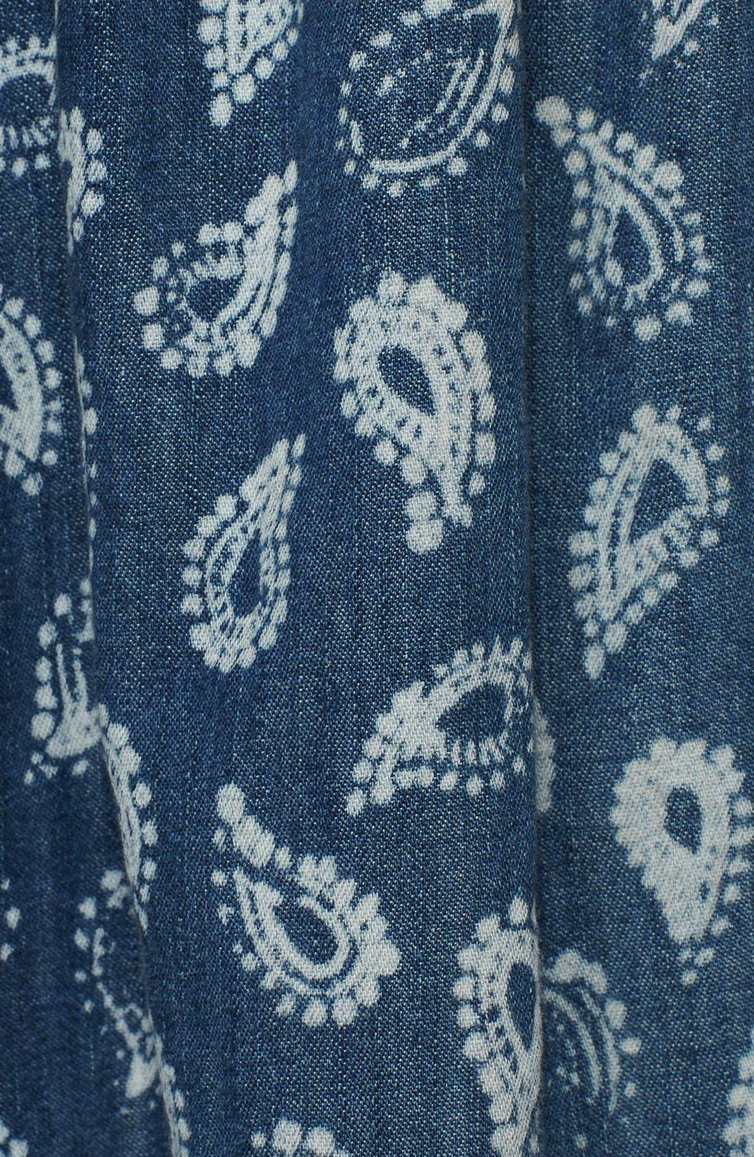 Alternate Image 3  - Current/Elliott 'The Easy Mini' Paisley Denim Skirt