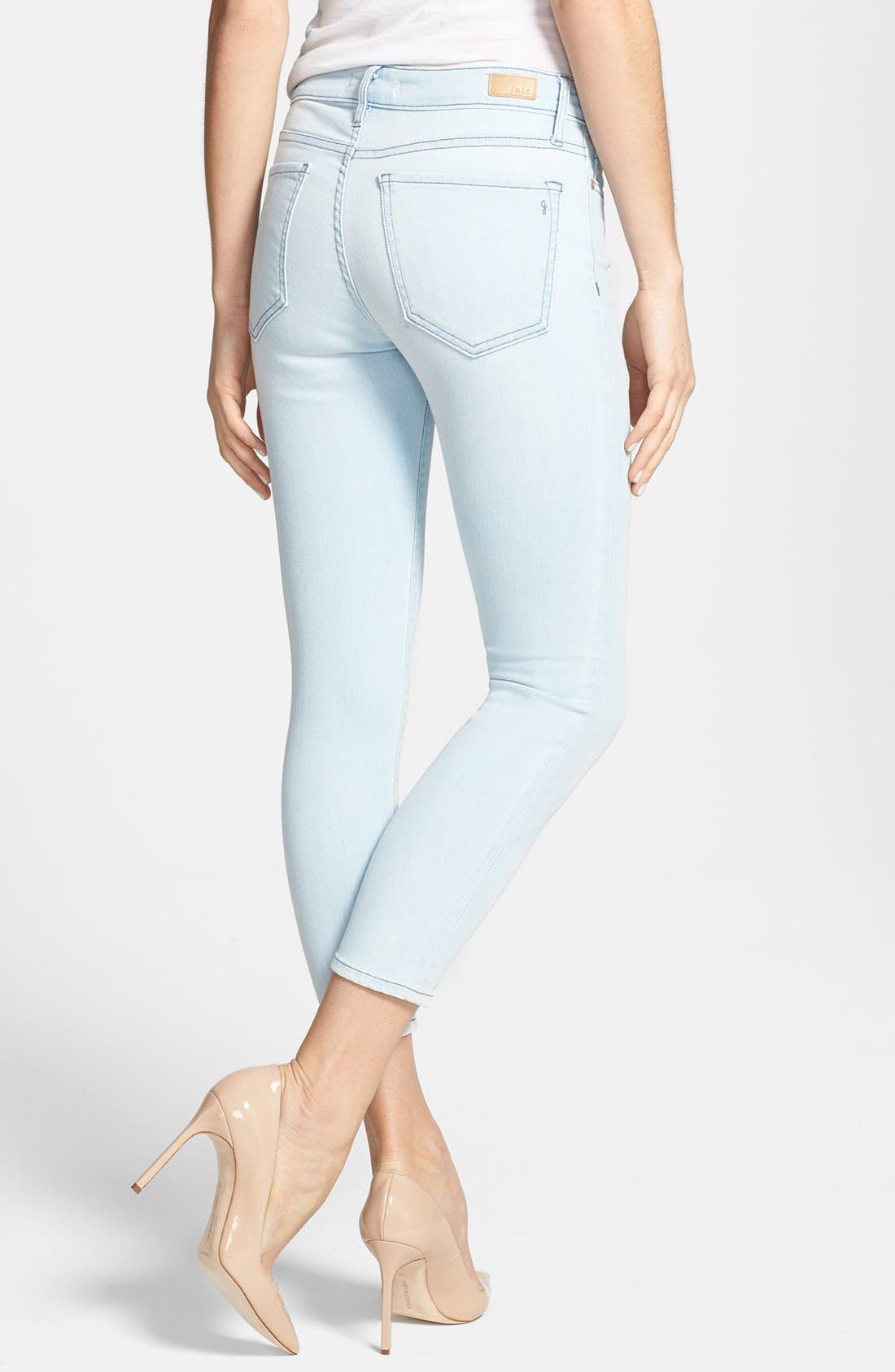 Alternate Image 2  - Joie Colored Crop Stretch Skinny Jeans (Starlight)