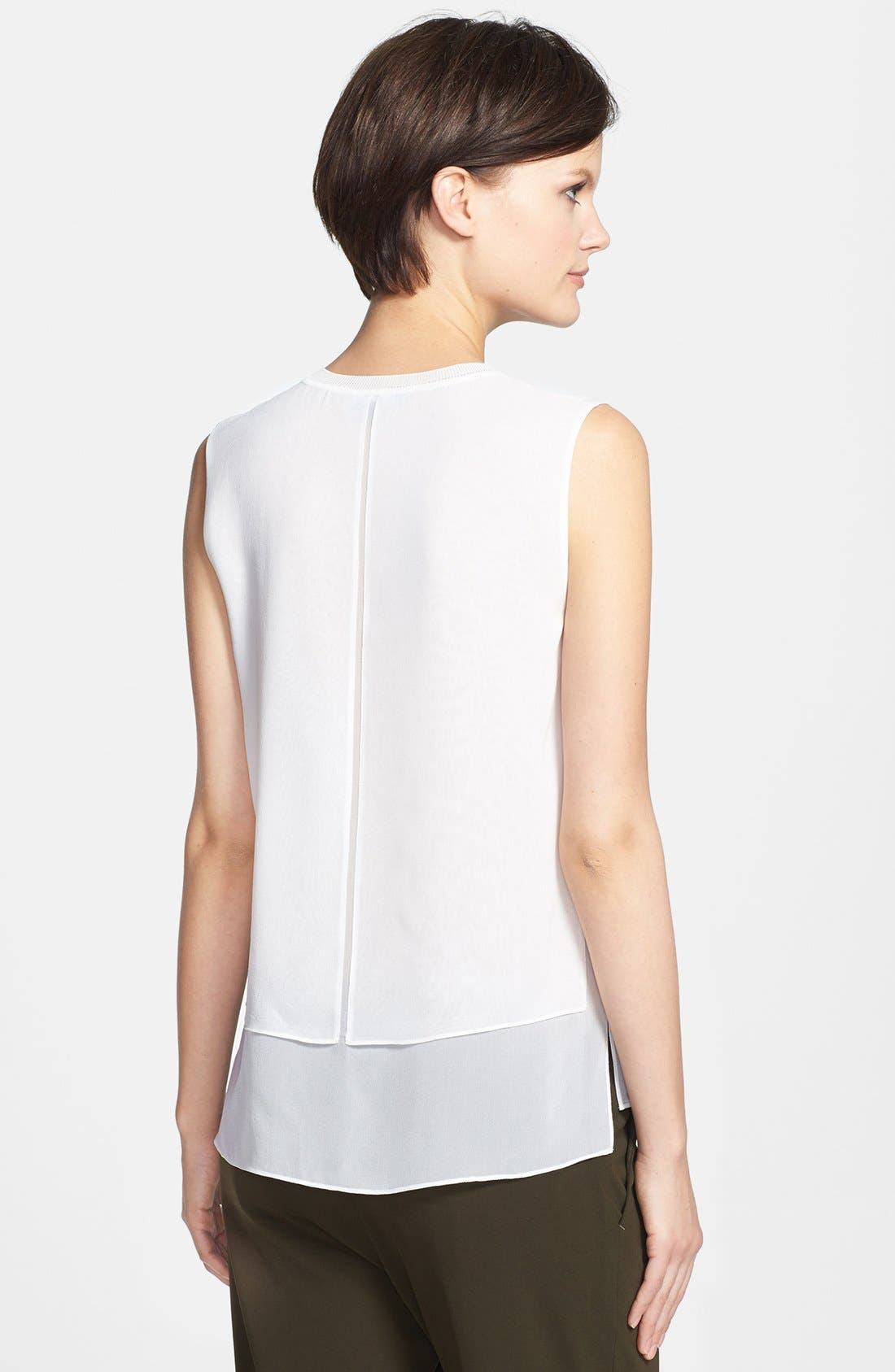Alternate Image 2  - Vince Sleeveless Overlay Blouse