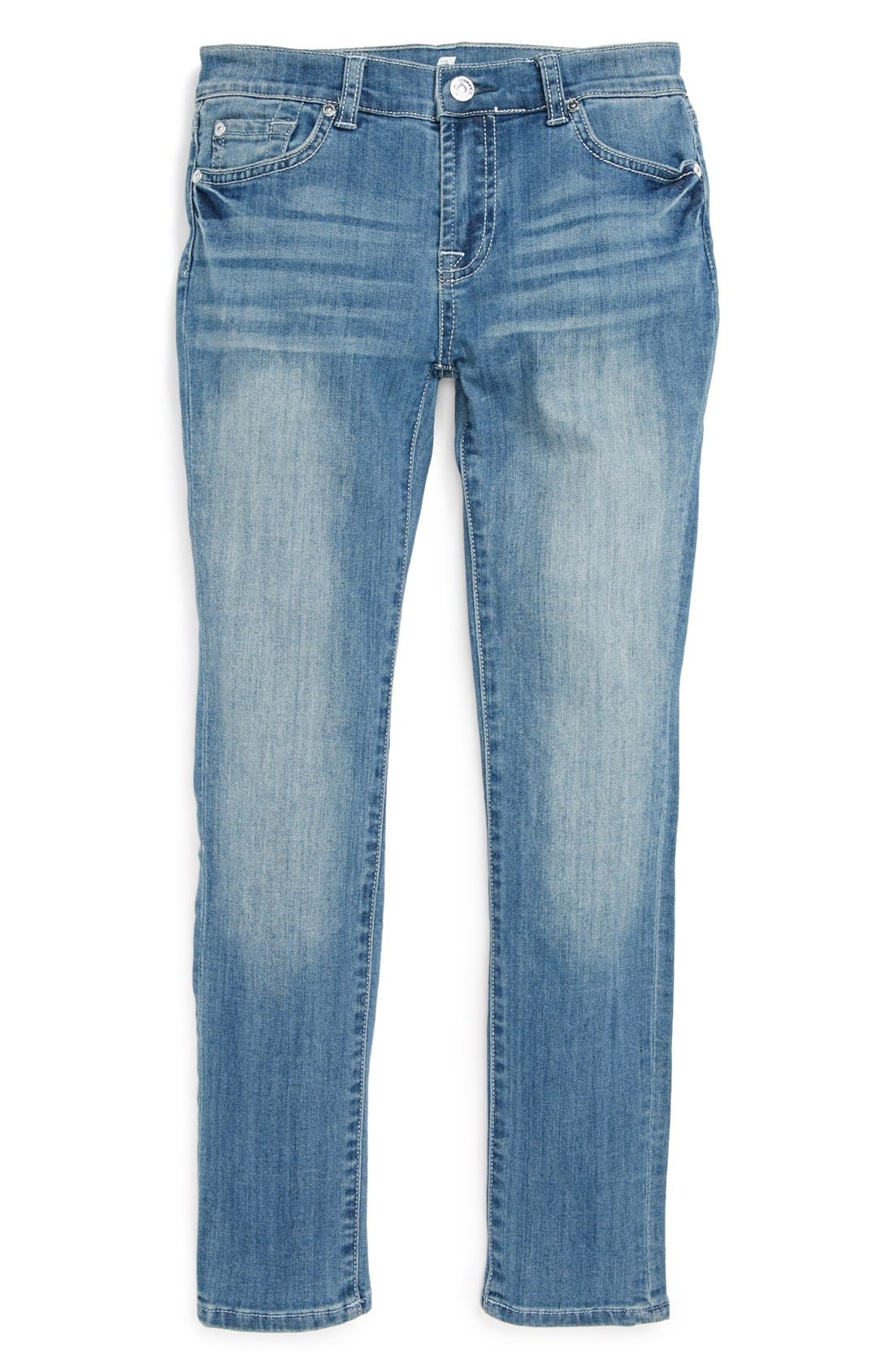 Alternate Image 2  - 7 For All Mankind® 'The Skinny' Jeans (Big Girls)