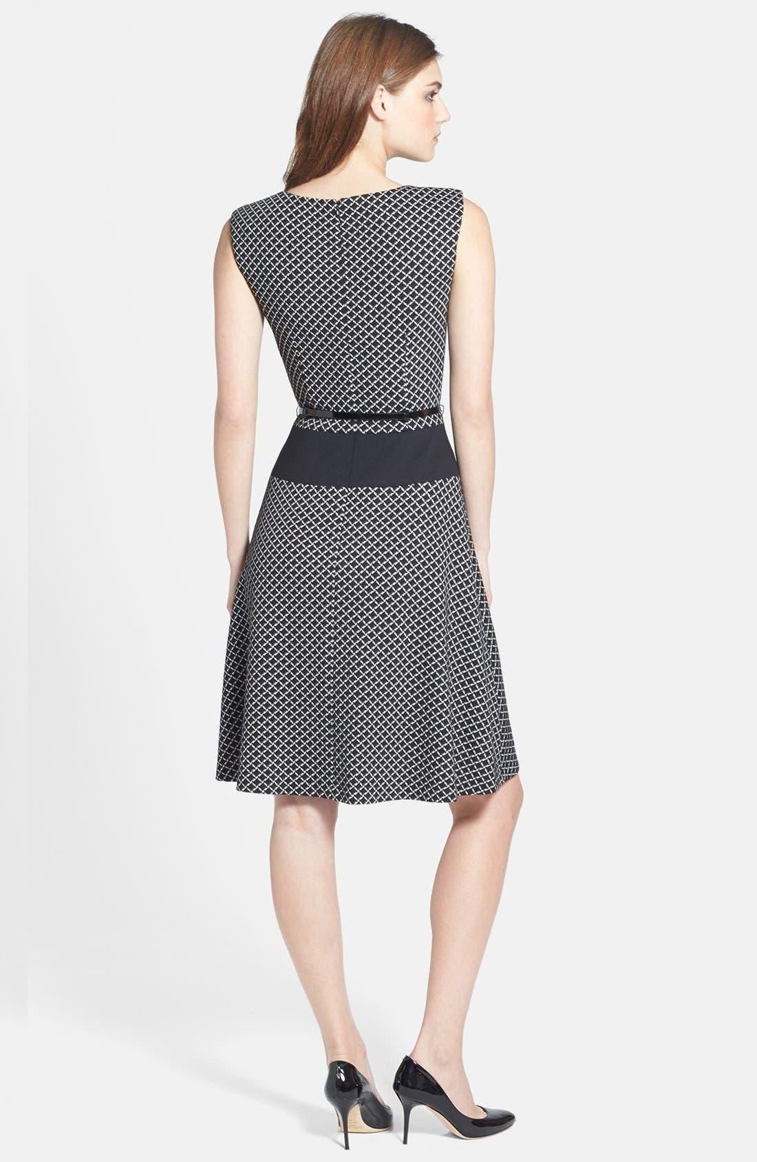 Alternate Image 2  - Anne Klein Diamond Ponte Flare Dress