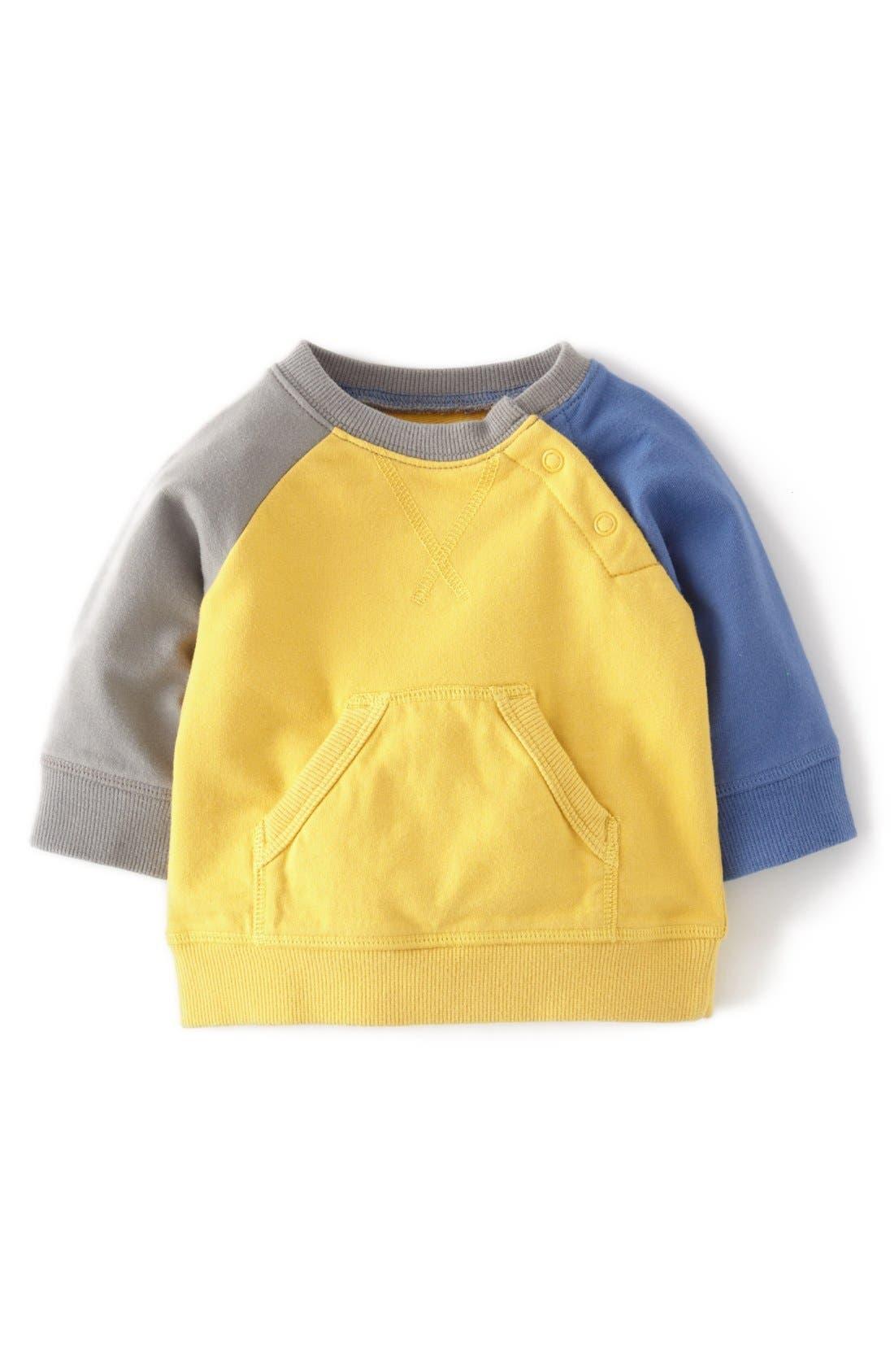Alternate Image 1 Selected - Mini Boden 'Hotchpotch' Sweatshirt (Baby Boys)
