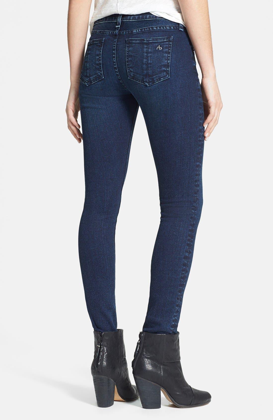 Alternate Image 2  - rag & bone/JEAN Skinny Stretch Jeans (Coronado)