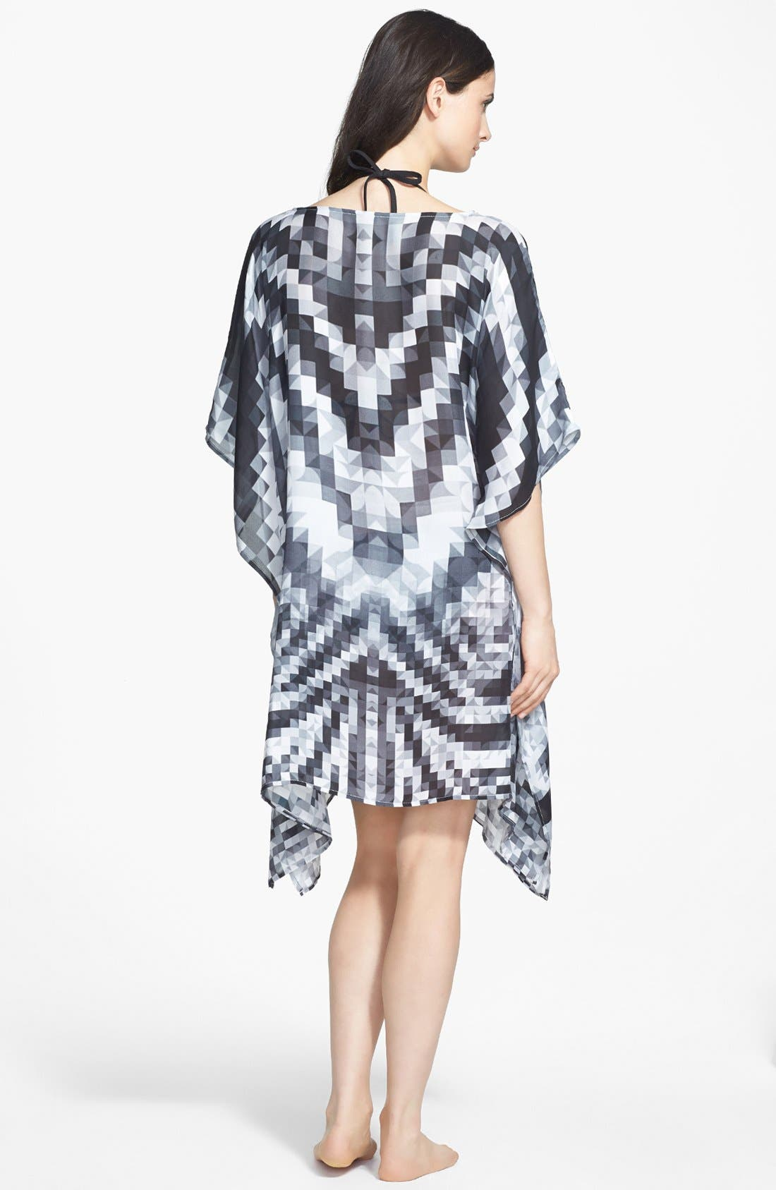 Alternate Image 2  - Echo 'Digital Mosaic Geo' Silk Cover-Up Poncho
