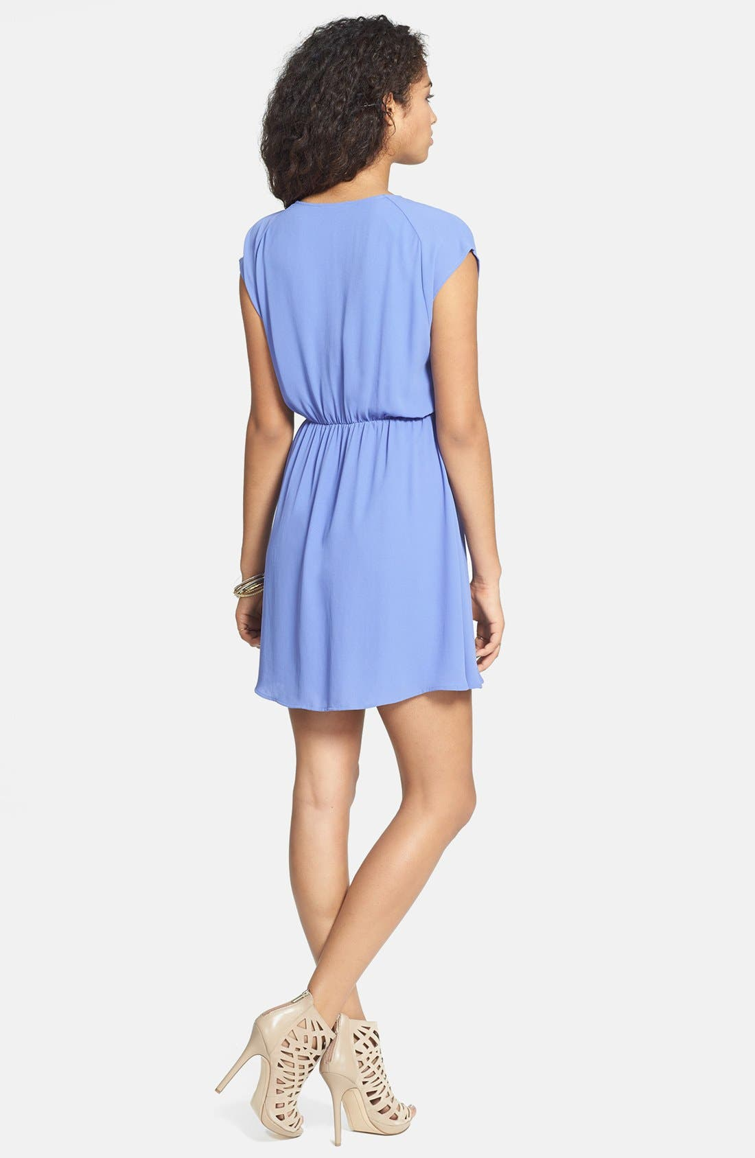 Alternate Image 2  - Lush 'Katie' Surplice Chiffon Skater Dress