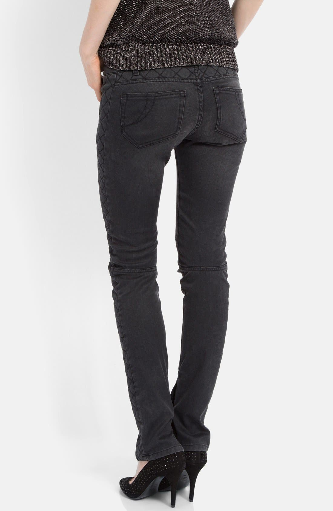 Alternate Image 2  - maje 'Downtown' Colored Stretch Skinny Jeans