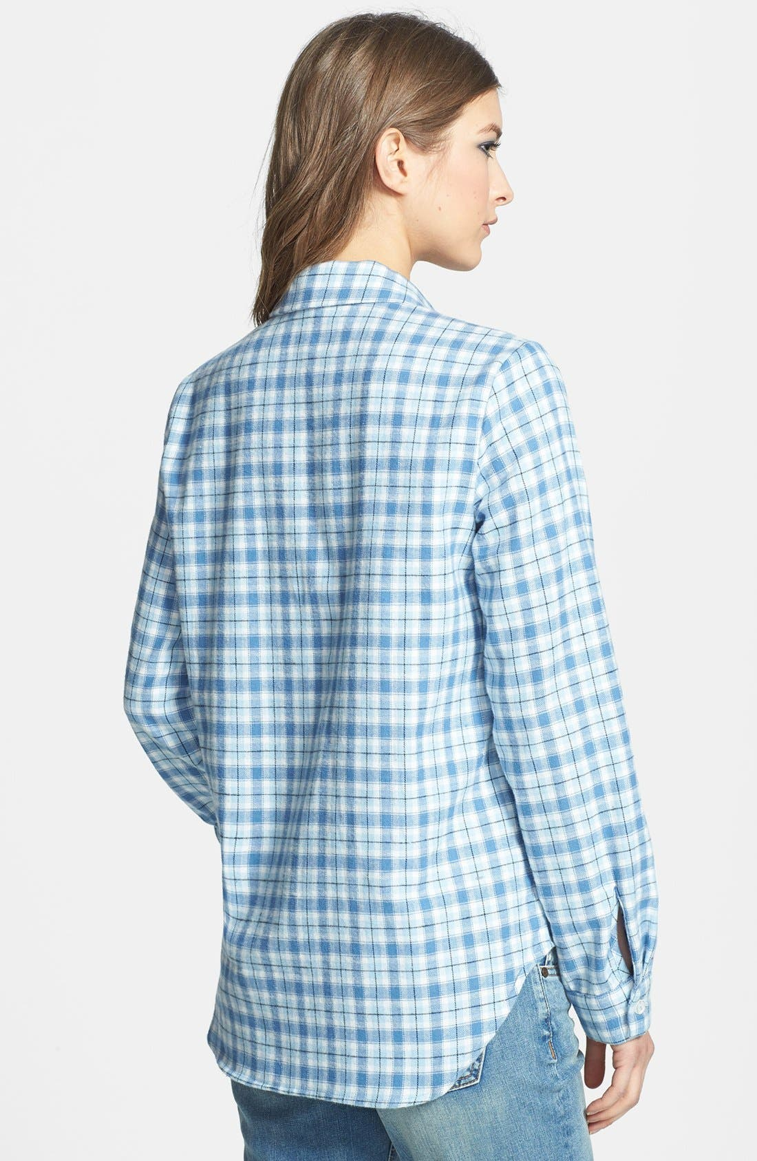 Alternate Image 2  - WAYF Plaid Flannel Shirt