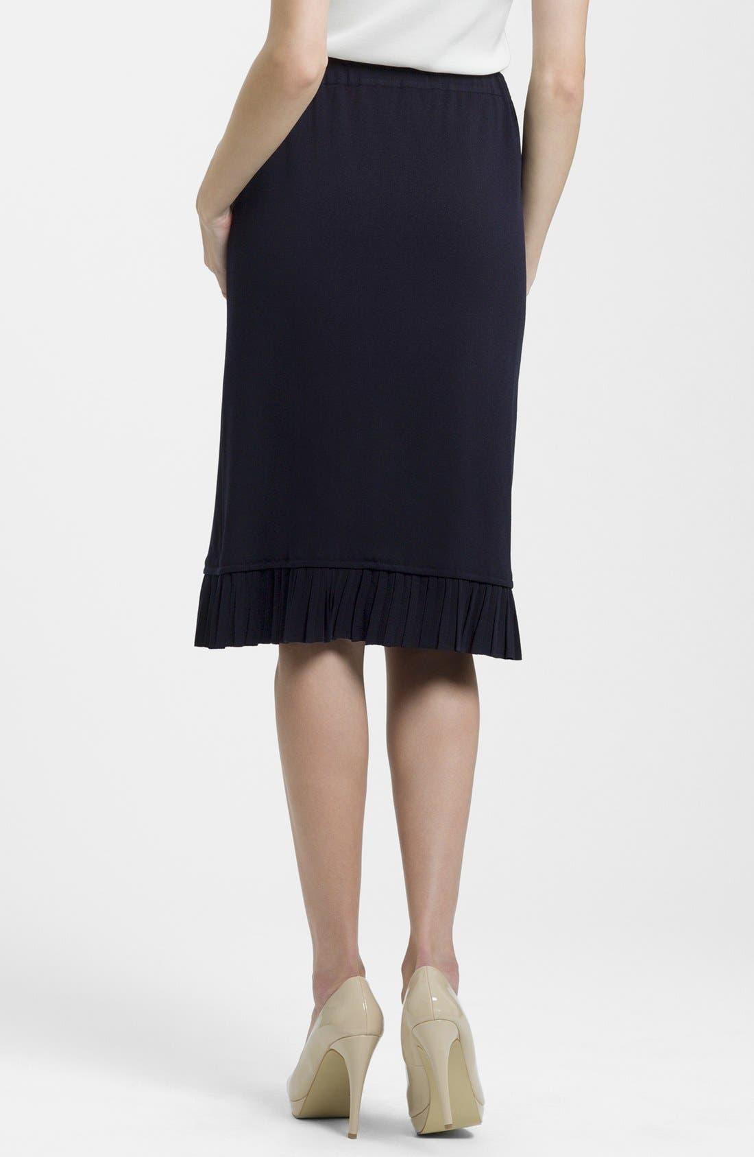 Alternate Image 2  - Ming Wang Pleated Hem Skirt