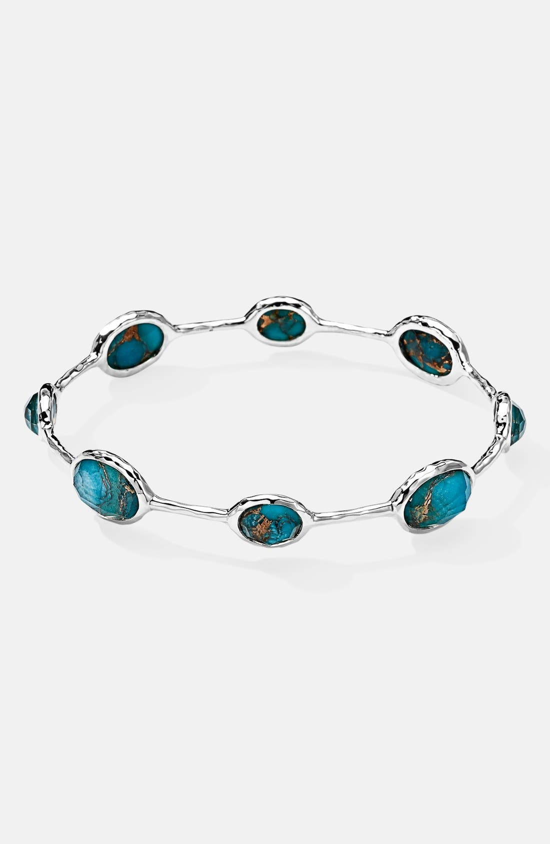 Alternate Image 1 Selected - Ippolita 'Rock Candy' 8-Stone Sterling Silver Bangle (Online Only)